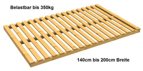 Lattenrost Baßner Exklusiv nicht verstellbar belastbar bis 350 kg 90cm | 220cm