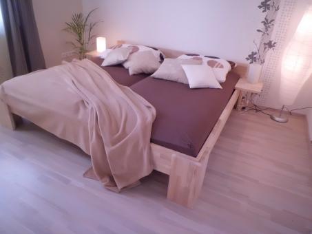 Massivholzbett Buche Doppelbett Fuss I 140cm | 40cm | 18mm | 200cm