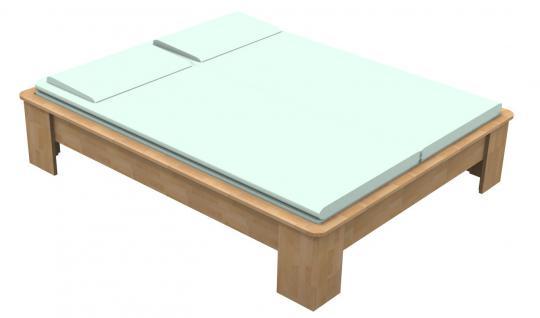 Massivholzbett Buche Doppelbett Fuss I mit Umrandung 140cm | 18mm | 200cm | 40cm