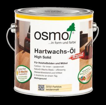 Osmo Hartwachs - Öl Rapid farblos-matt-3262   0,75 l