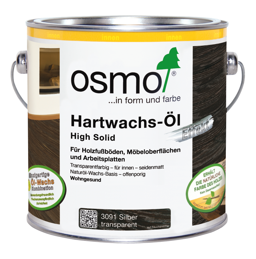 osmo hartwachs l effekt silber gold silber 3091 0 75 l im onlineshop betten direkt vom. Black Bedroom Furniture Sets. Home Design Ideas