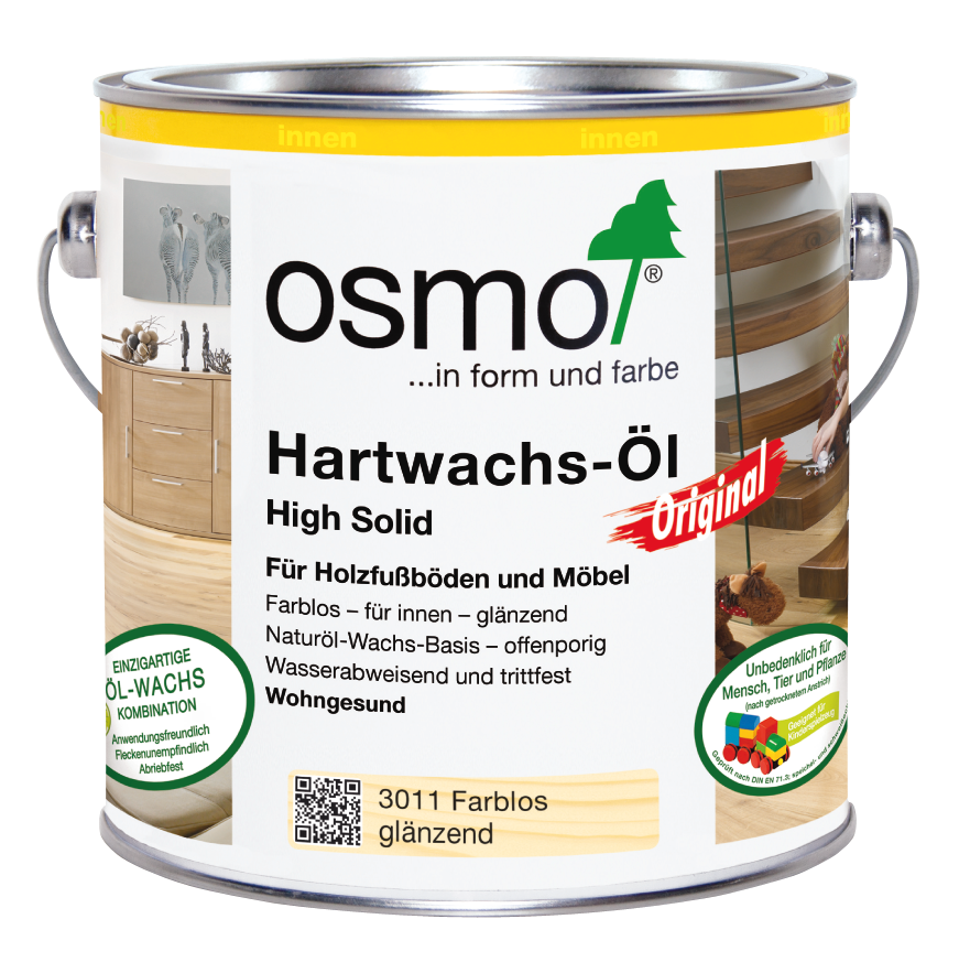 osmo hartwachs l original farblos gl nzend 3011 0 375 l im onlineshop betten direkt vom. Black Bedroom Furniture Sets. Home Design Ideas