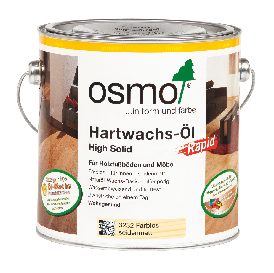 osmo hartwachs l rapid farblos matt 3262 0 75 l im onlineshop betten direkt vom hersteller. Black Bedroom Furniture Sets. Home Design Ideas