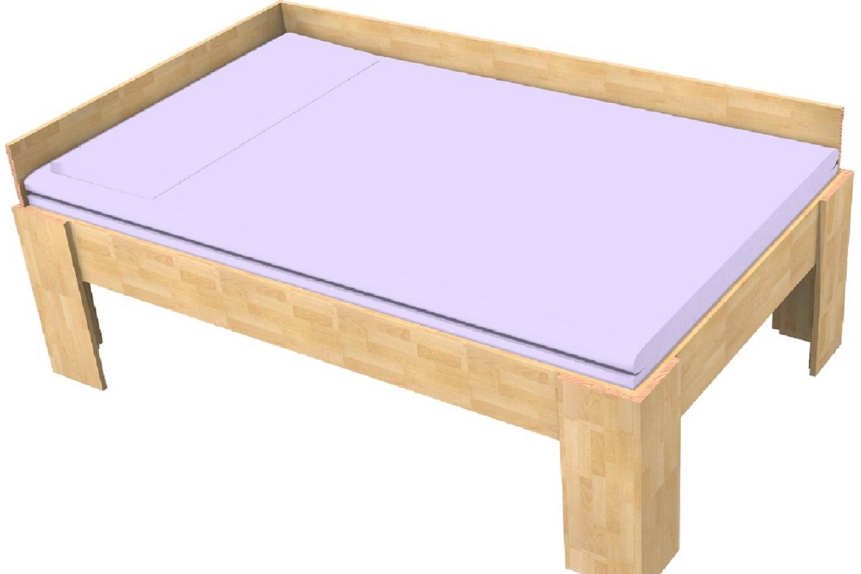 massivholzbett buche einzelbett mit r ckwand fuss i 18mm 80cm 200cm 40cm im onlineshop. Black Bedroom Furniture Sets. Home Design Ideas
