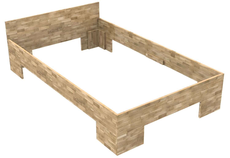 massivholzbett mit fusteil haus design und m bel ideen. Black Bedroom Furniture Sets. Home Design Ideas
