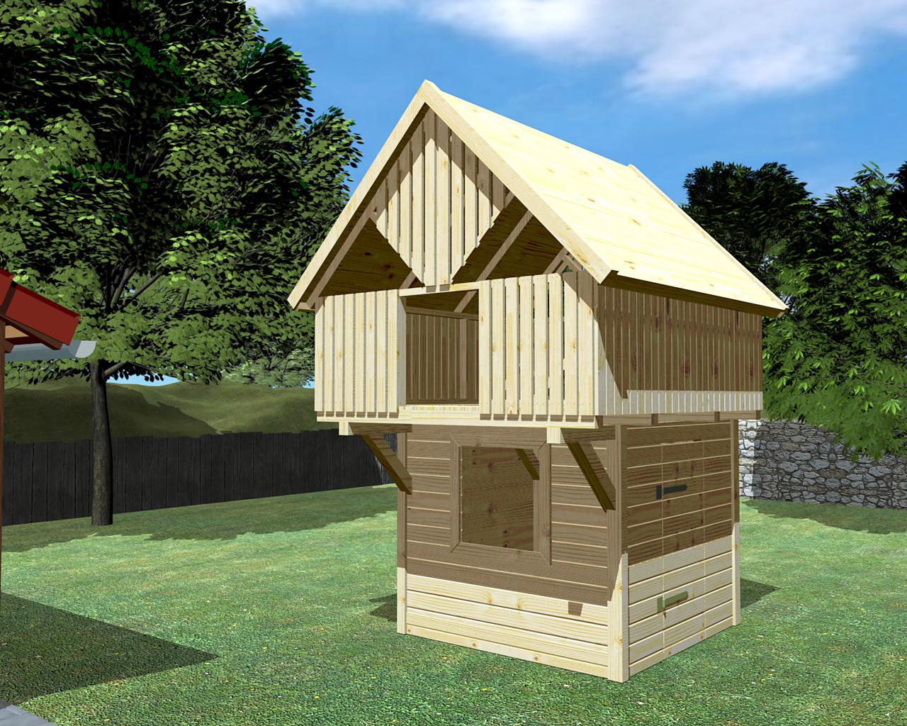 baumhaus auf stelzen oder unterbau modell 9 sonnenschein im onlineshop direkt vom hersteller. Black Bedroom Furniture Sets. Home Design Ideas
